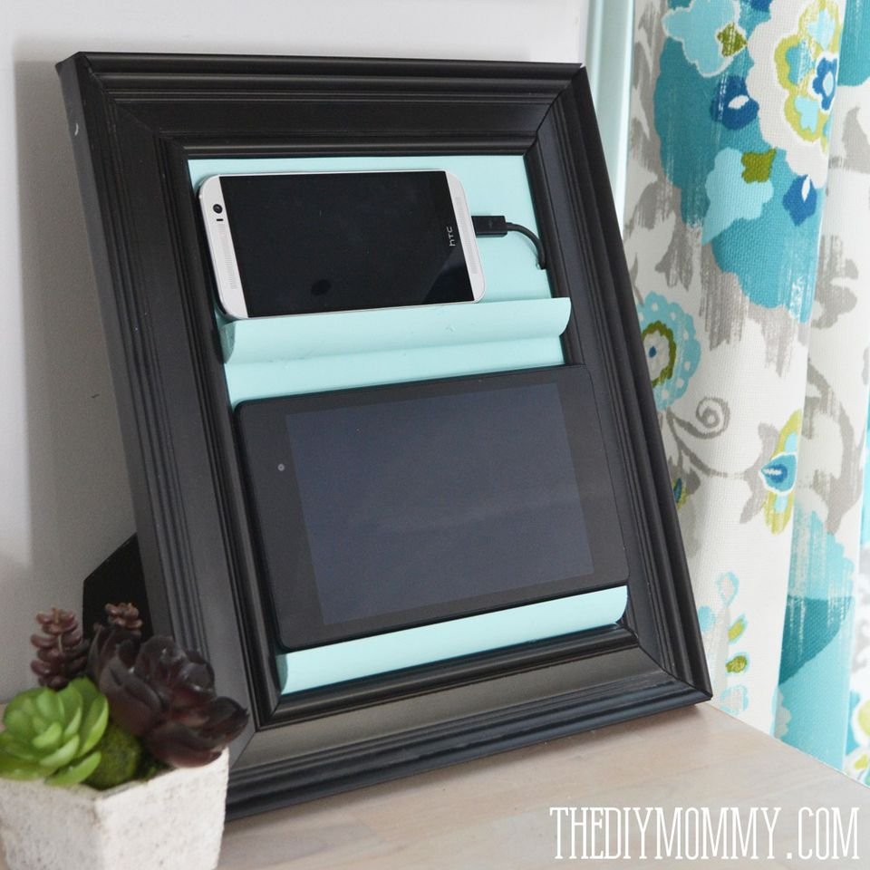 Creative ways to repurpose old picture frames pictureframechargingstation jeuxipadfo Images