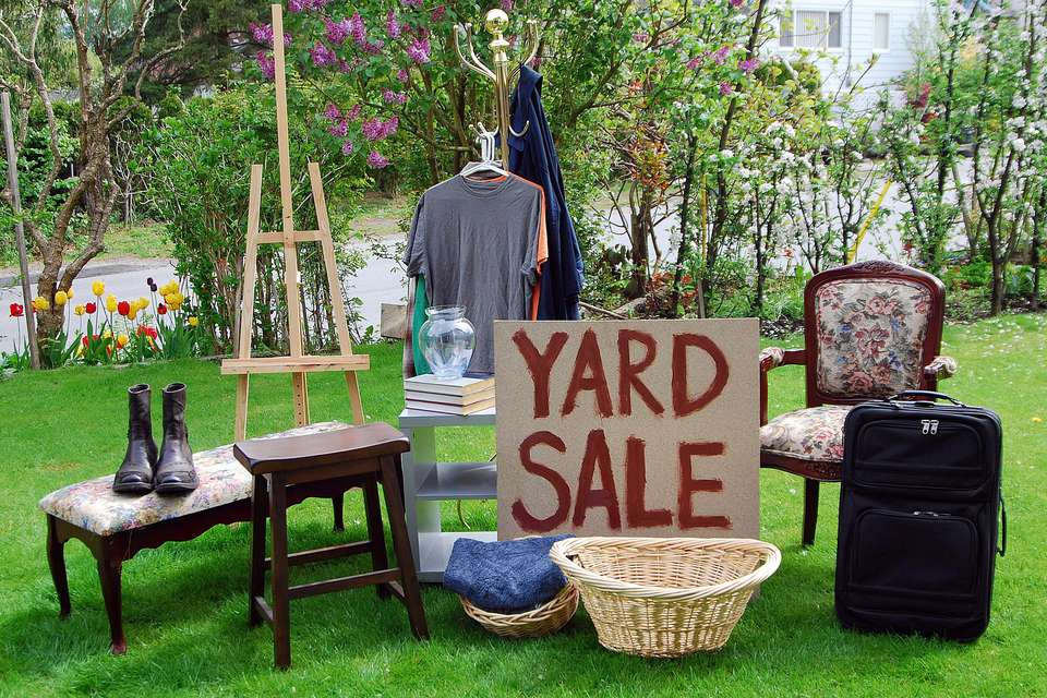 yard sale merchandise