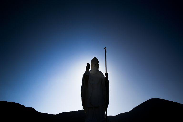 Statue of Saint Patrick at Croagh Patrick mountain