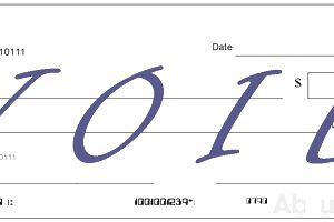 "Example of a Voided Check with ""VOID"" Written Across the Front"