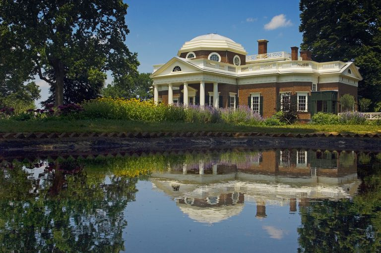 USA, Virginia, Monticello was the estate of Thomas Jefferson third President of the United States and founder of the University of Virginia. House which Jefferson himself designed was based on neoclassical principles; Charlottesville