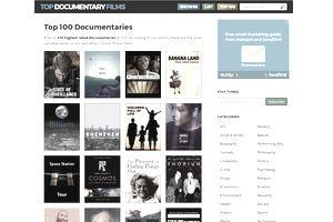 The top 100 documentaries at TopDocumentaryFilms