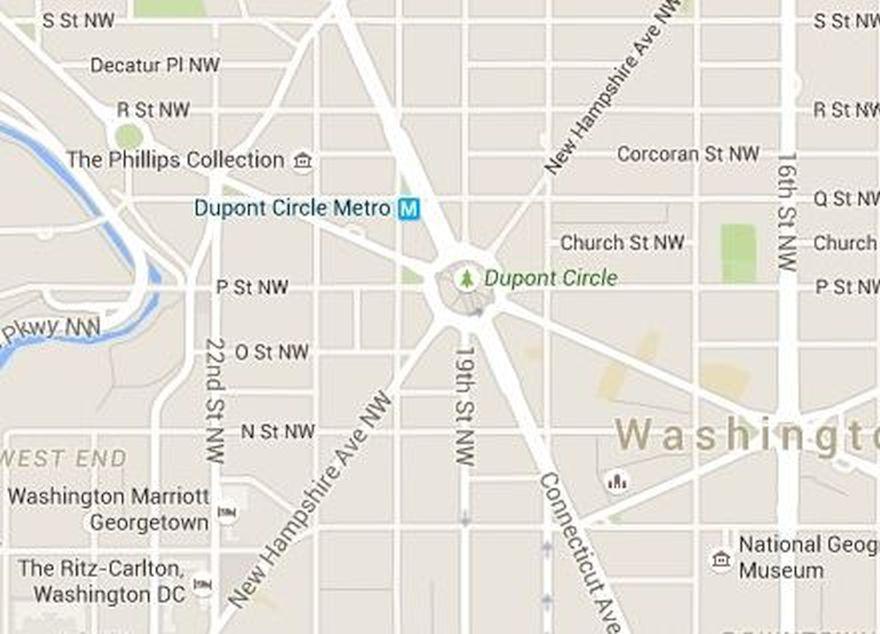 Dupont Circle Map Washington DC