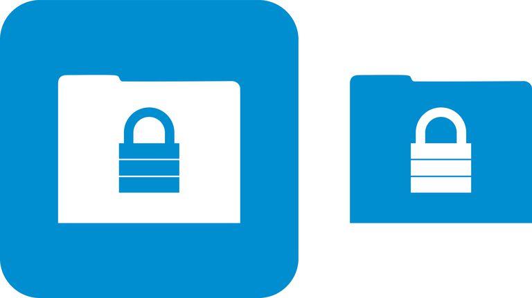 Blue Locked Folder Icons