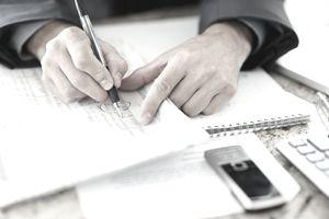 Man doing paperwork