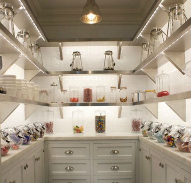 how to organise a walk in pantry