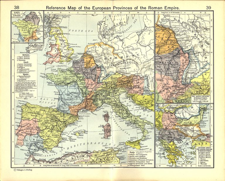 Reference Map of the European Provinces of the Roman Empire