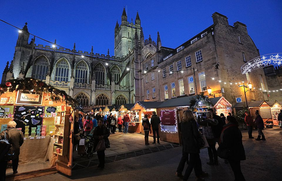 Shoppers Visit Bath Christmas Market