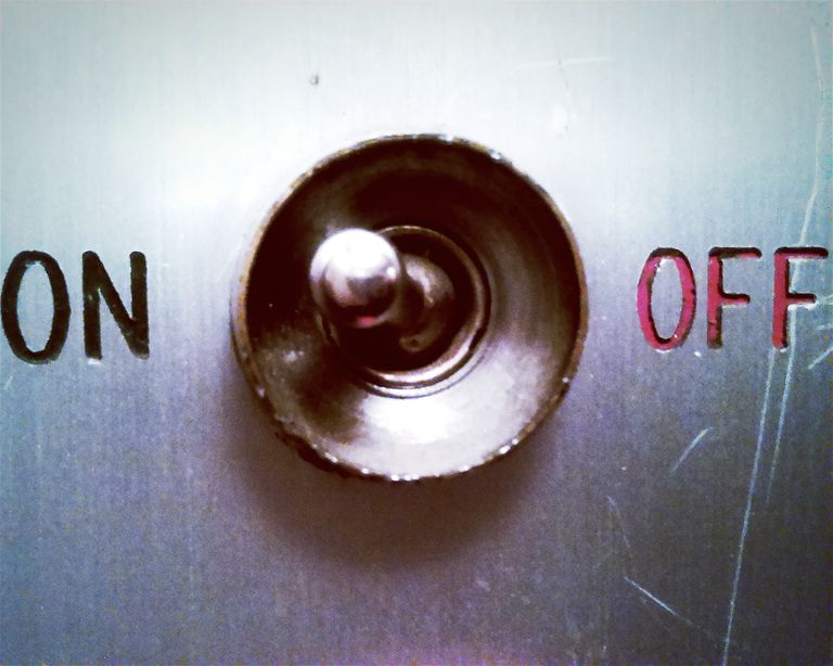 Close-Up Of On And Off Switch