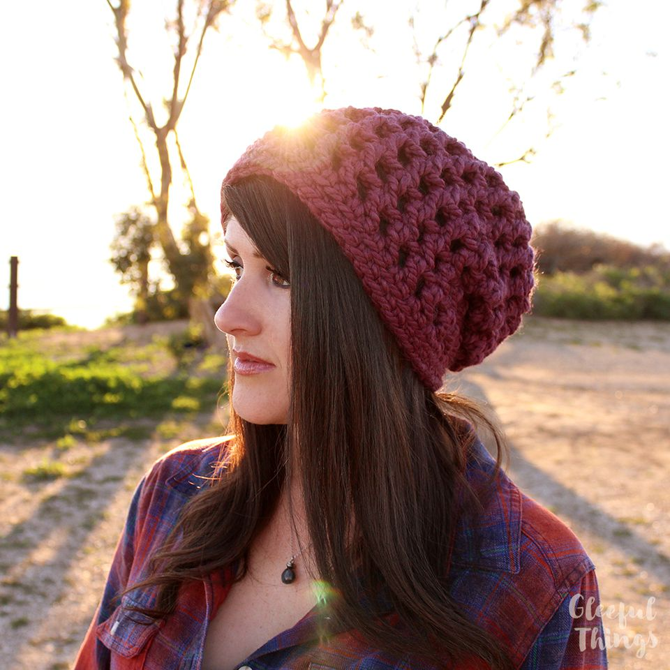 10 slouchy crochet hat patterns chunky slouchy hat free crochet pattern bankloansurffo Image collections