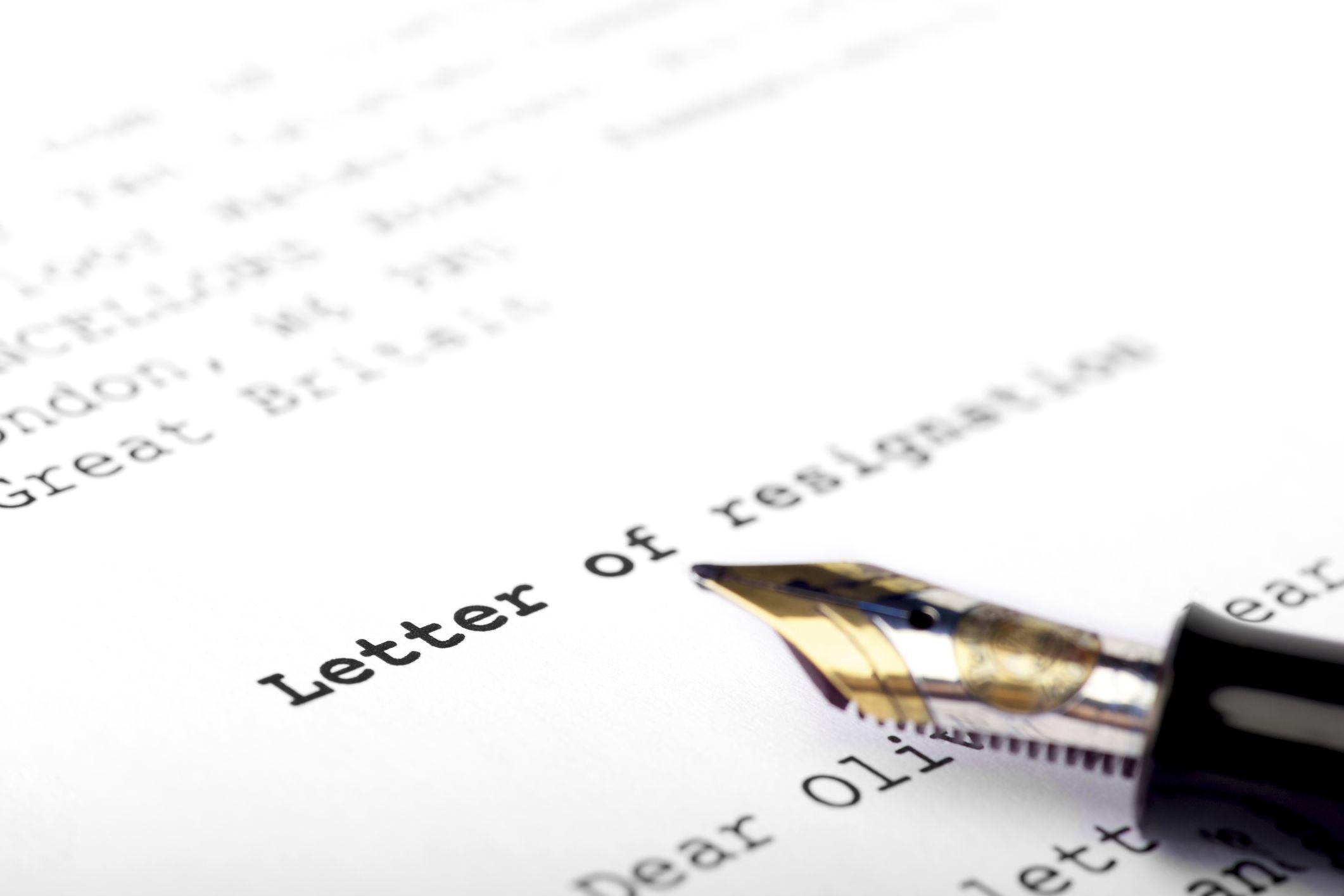 letter of resignation hostile work environment