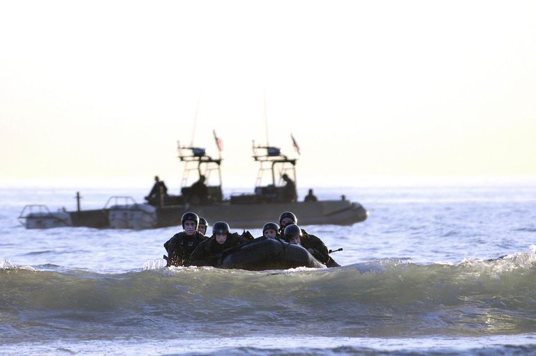 US Navy SEAL maritime operations qualification training exercise