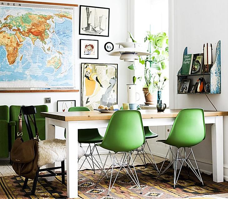 green color feng shui decorating
