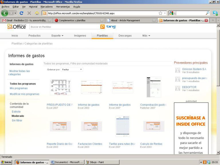 Descubre tu plantilla Excel en la web oficial de Microsoft