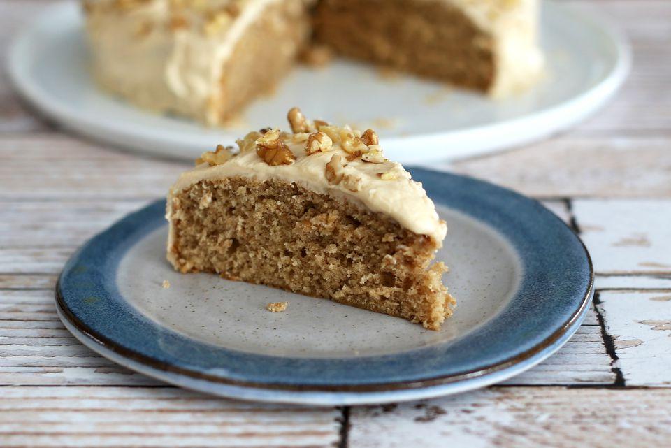 Coffee Walnut Snack Cake