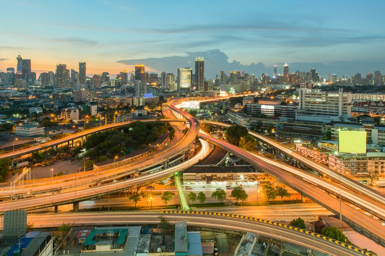 Cityscape in downtown of Bangkok,Thailand