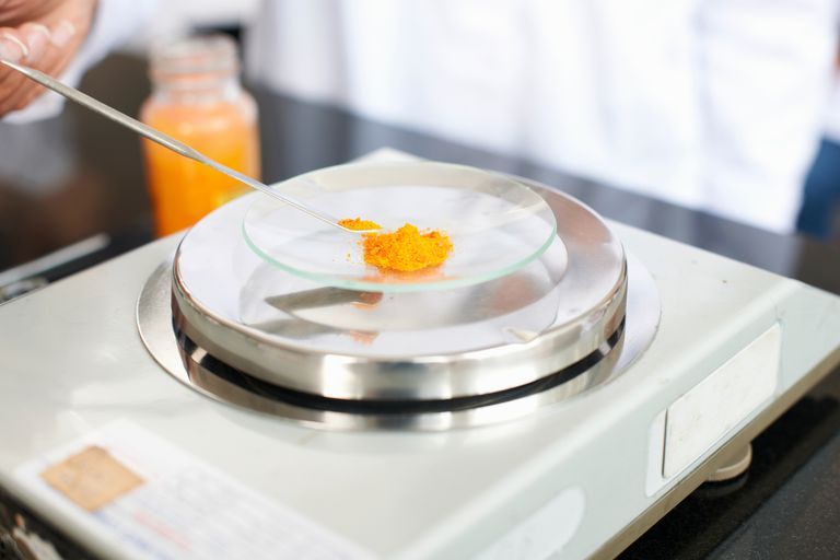Compounds are weighed using scales to yield grams. It's often necessary to convert grams to moles for chemistry calculations.