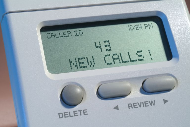 Caller ID Displaying 43 New Calls