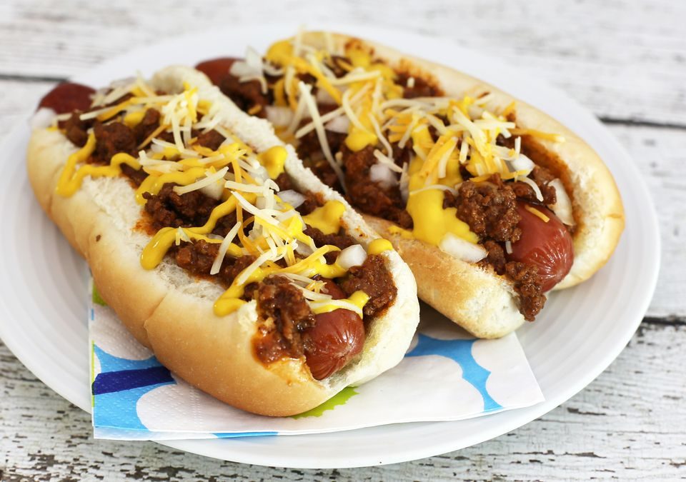 coney island chili dogs