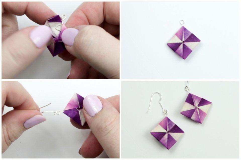 to Make Origami Earrings