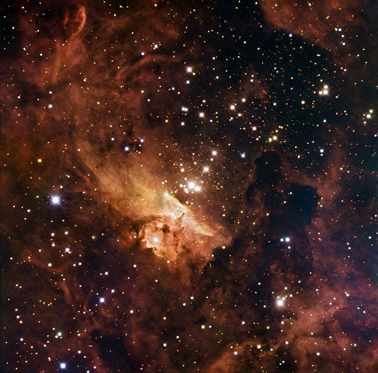 a star cluster with massive stars.