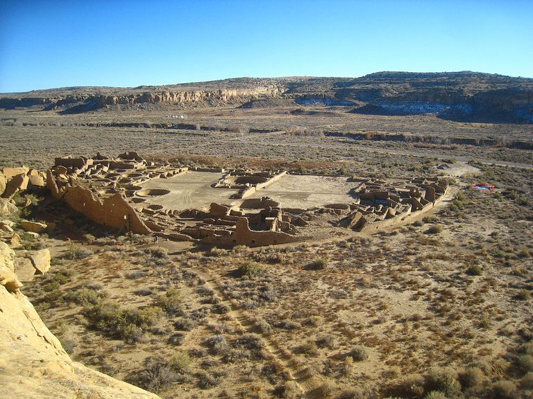 Overview of Pueblo Bonito, Chaco Canyon
