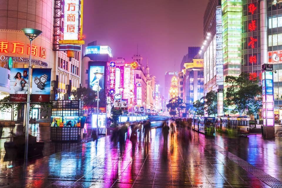 Nanjing road in Shanghai.