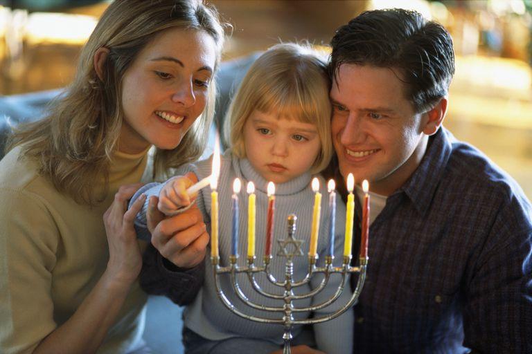 Family Lighting Menorah