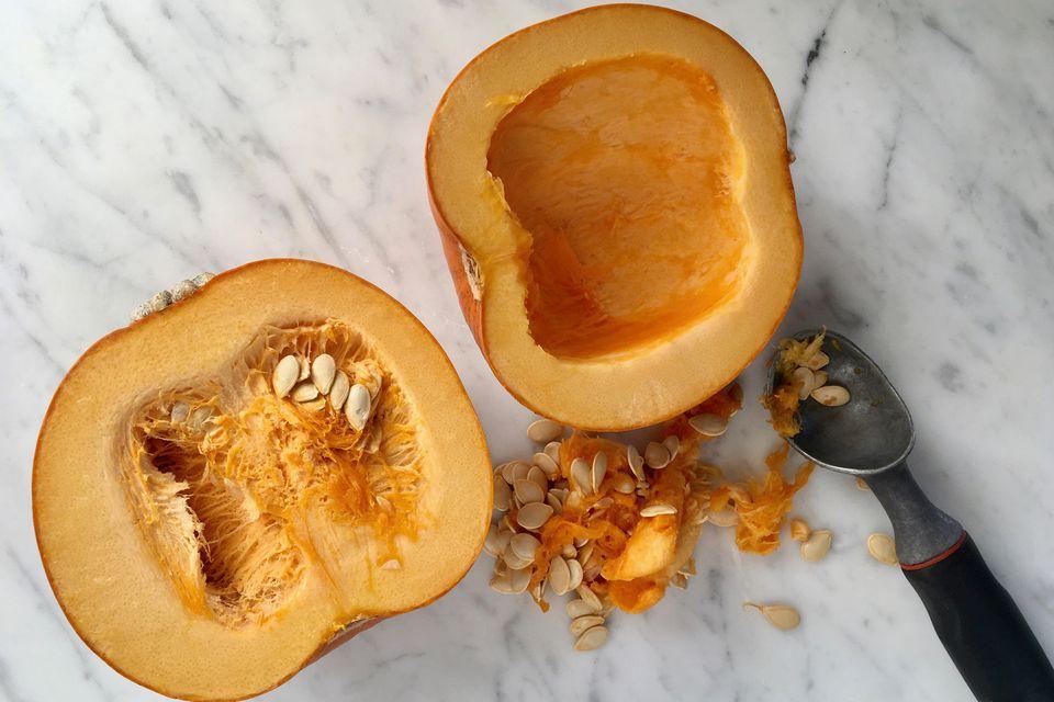 Cleaning Pumpkin