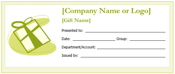 Custom Gift Certificate Templates for Microsoft Word – Template for a Voucher