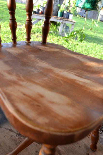 Sand the chair with low grit and high grit sandpaper to remove any old  paint  lacquer or wood glue  Photo   Jami Delia. How to Refurbish a Wooden Chair