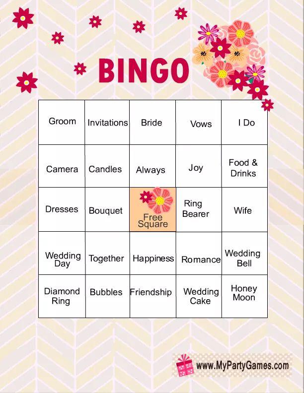 11 free printable bridal showers bingo cards solutioingenieria Images