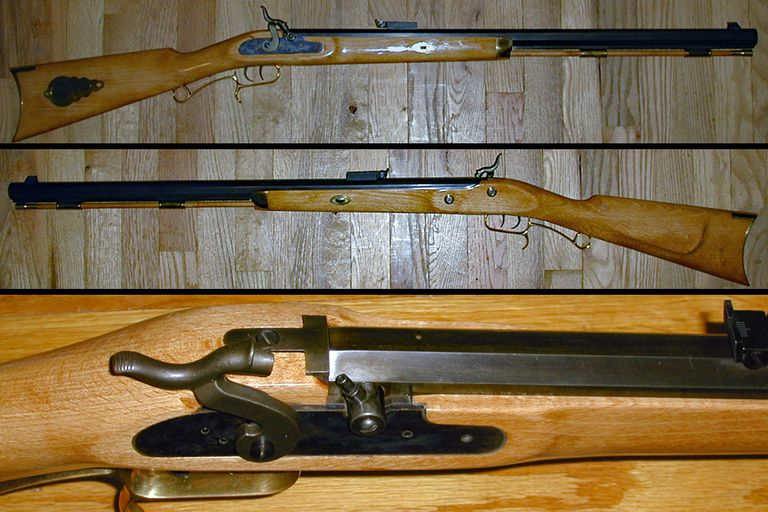 Finished homemade muzzleloading rifle