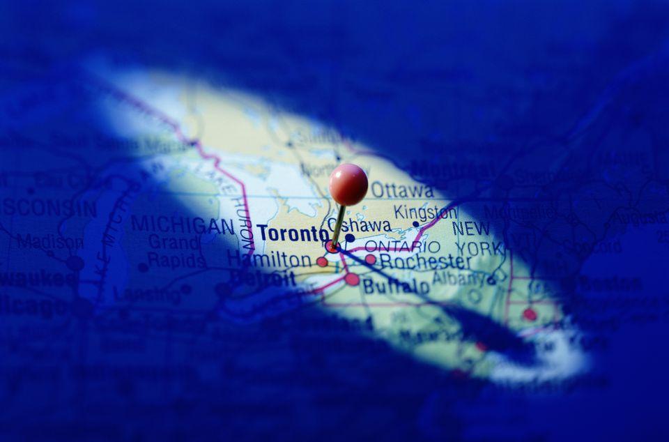 TORONTO CANADA PIN POINT LOCATION