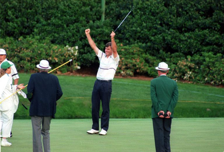 Nick Faldo won a playoff at the 1990 Masters
