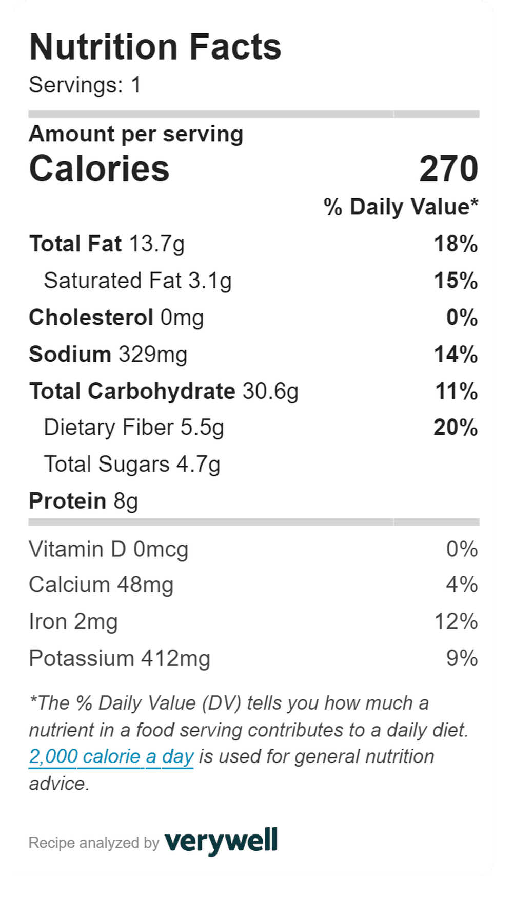 nutrition in Carrot and Spinach Crunch Lunch Wrap - 270 calories and 3.1g fat.