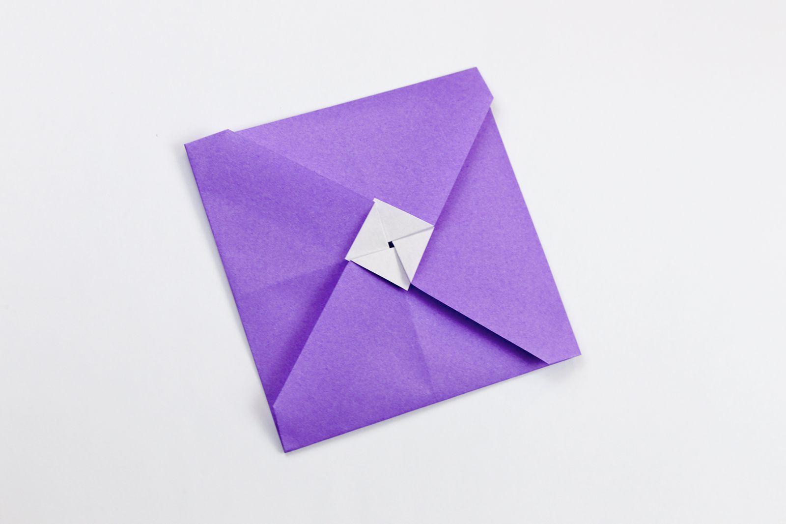 Origami bamboo letterfold folding instructions - Origami Tato Envelope Variation Instructions