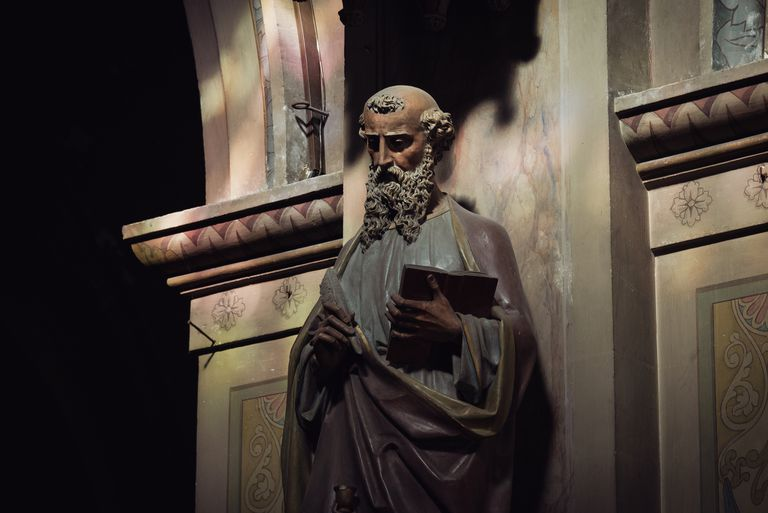 Apostle statue in the Church of Saint-Louis, in Rochefort, France