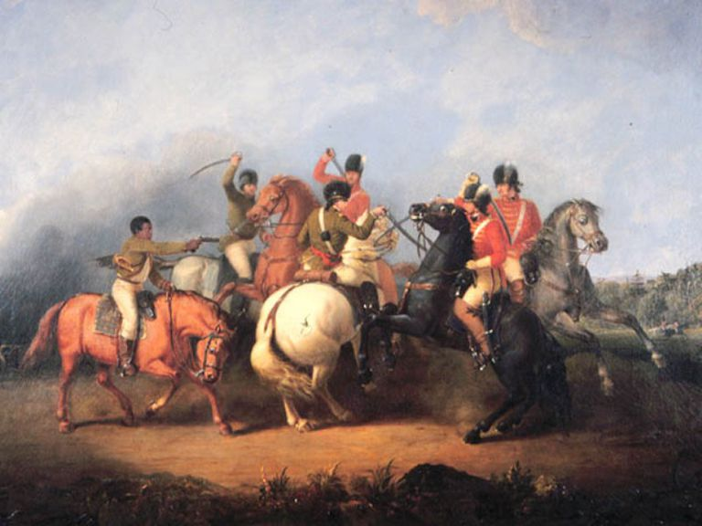 Cavalry fight at Cowpens