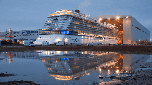 Celebrity Eclipse Leaves the Shipyard for the First Time