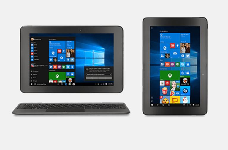 windows 10 para tablets y dispositivos convertibles o híbridos