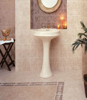 a stately bathroom tile design from interceramic - Bathroom Tiles Images