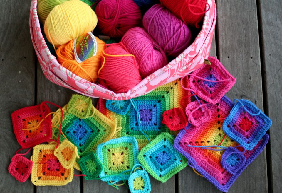 how to change yarn color in crochet