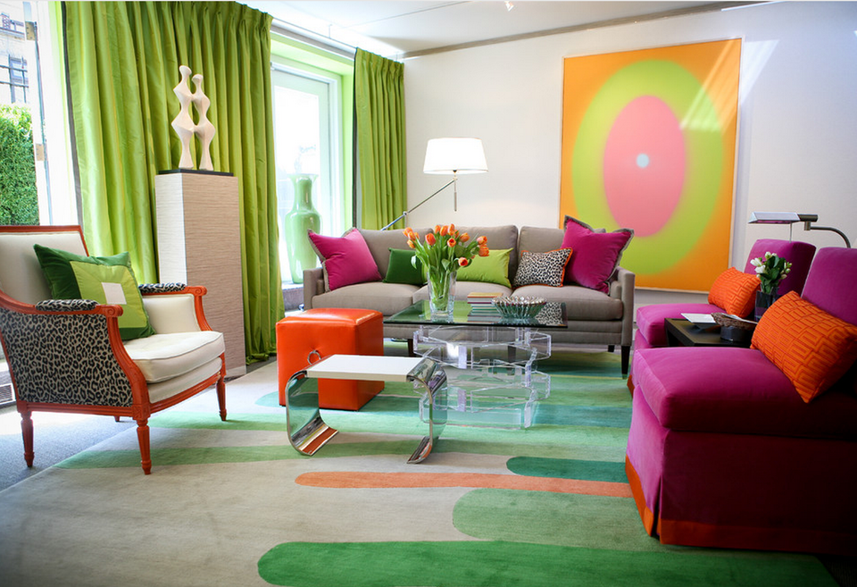 Colorful living room from the Kips Bay Showhouse