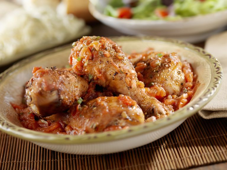 Chicken Cacciatore in a bowl