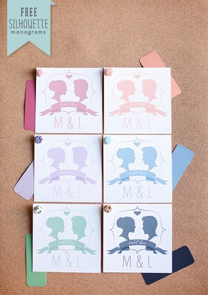 9 Sets of Free, Printable DIY Wedding Favor Tags