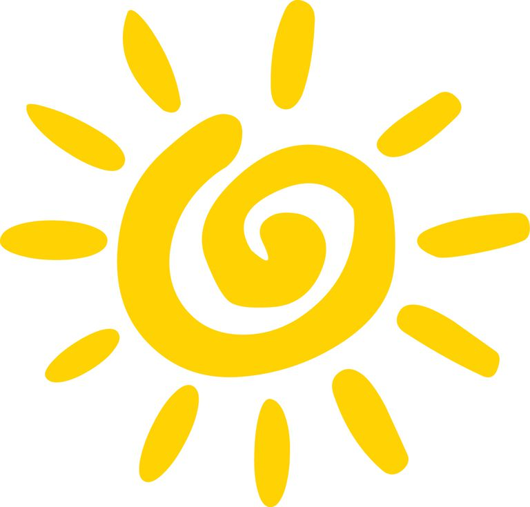 A clipart image of the sun