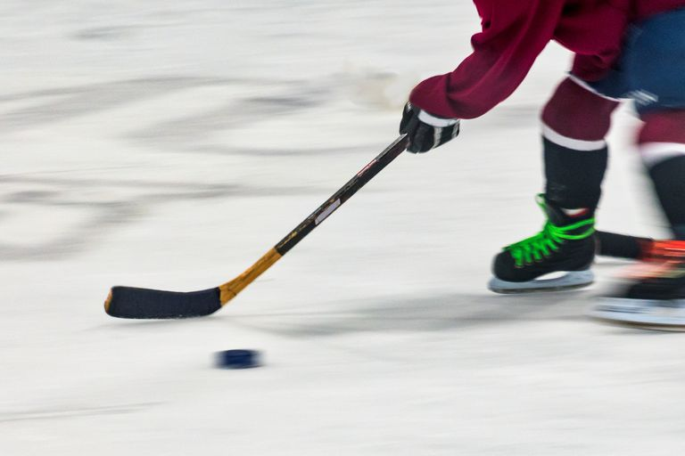 Youth Playing Hockey