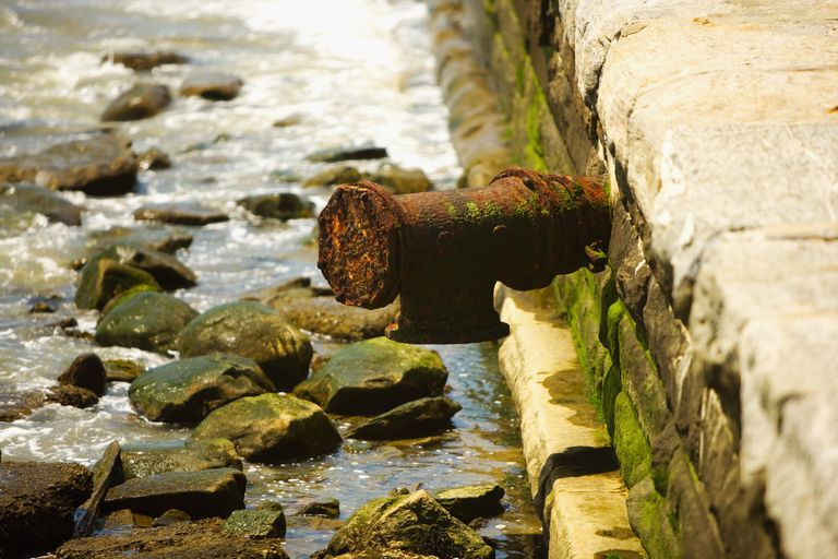Close-up of a rusty pipe, New York City, New York State, USA