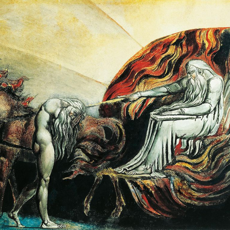 God Judges Adam, by William Blake